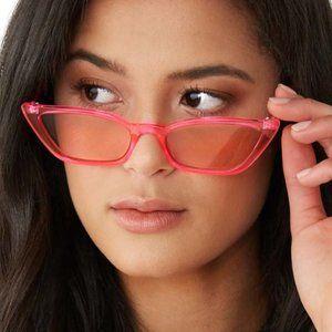 Bando Sharp Cateye Neon Pink Sunglasses